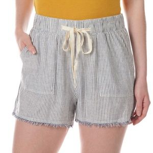 Thread & Supply striped soft drawstring shorts
